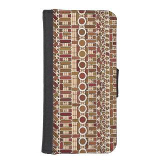Batik tribal - neutrales del tono de la tierra funda billetera para teléfono