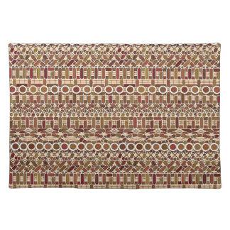 Batik tribal - neutrales del tono de la tierra mantel