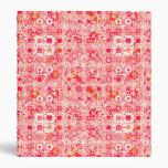 Batik tribal - rosa coralino, naranja coralino y