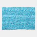 Batik tribal - sombras del azul toalla