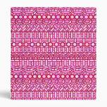 Batik tribal - sombras del rosa y de Borgoña