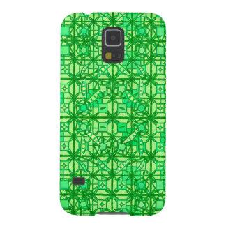 Batik tribal - sombras del verde carcasa de galaxy s5