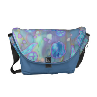 Batik Watercolor Sea Inspired Purse Courier Bag