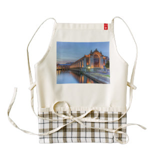 Batiment des Forces-Motrices, Geneva, Switzerland Zazzle HEART Apron