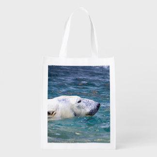 Batimiento del oso polar bolsas reutilizables