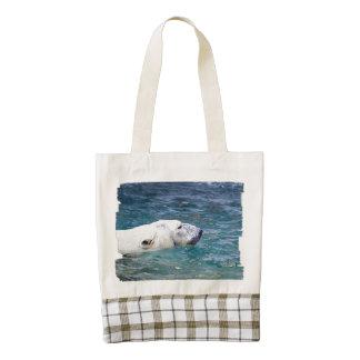Batimiento del oso polar bolsa tote zazzle HEART