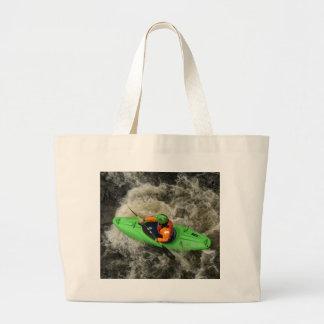 Batimiento verde del kajak bolsas lienzo