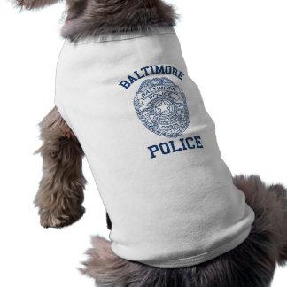 Batimore Police Maryland Pet Tshirt