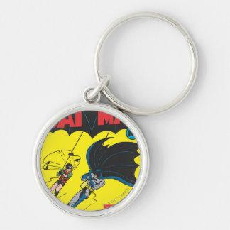 Batman #1 cómico llavero redondo plateado