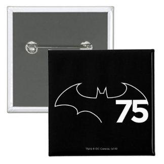 Batman 75 Logo Button