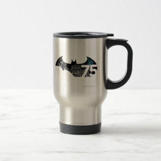 Batman 75 Logo - Chalkboard 15 Oz Stainless Steel Travel Mug