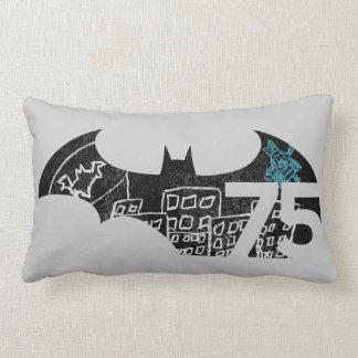 Batman 75 Logo - Chalkboard Throw Pillow