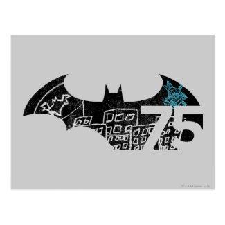 Batman 75 Logo - Chalkboard Postcard