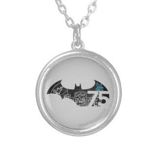 Batman 75 Logo - Chalkboard Silver Plated Necklace