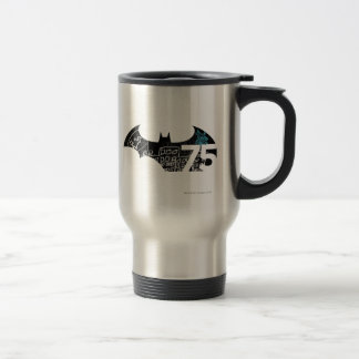 Batman 75 Logo - Chalkboard Travel Mug
