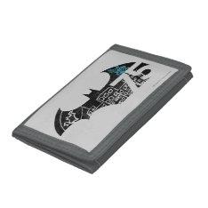 Batman 75 Logo - Chalkboard Tri-fold Wallet at Zazzle