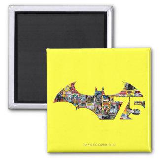 Batman 75 Logo - Comic Covers 2 Inch Square Magnet