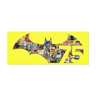 Batman 75 Logo - Comic Covers Canvas Print
