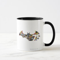 batman 75, batman, batman anniversary, batman 75th anniversary, dark knight, gotham, gotham city, dc comics, super hero, comic hero, bruce wayne, bat man, Mug with custom graphic design