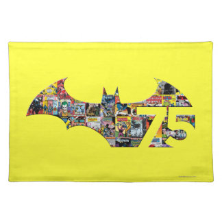 Batman 75 Logo - Comic Covers Cloth Placemat