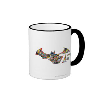 Batman 75 Logo - Comic Covers Ringer Coffee Mug