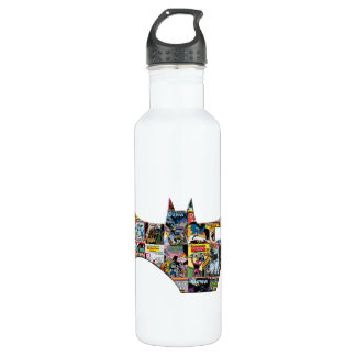 Batman 75 Logo - Comic Covers Stainless Steel Water Bottle