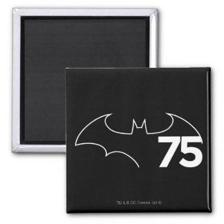 Batman 75 Logo Refrigerator Magnet