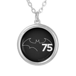 Batman 75 Logo Silver Plated Necklace