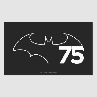 Batman 75 Logo Rectangle Sticker