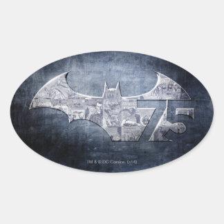 Batman 75 - Street Comics Oval Sticker