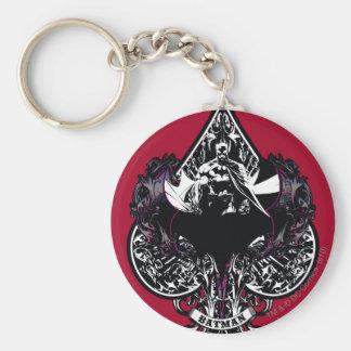 Batman Ace of Spaces Gothic Crest Basic Round Button Keychain