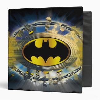 """Batman adornó el logotipo carpeta 1 1/2"""""""
