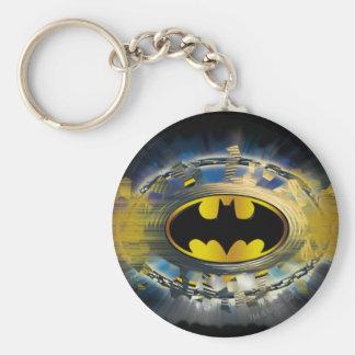 Batman adornó el logotipo llavero redondo tipo pin
