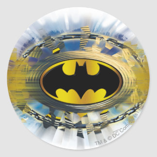 Batman adornó el logotipo pegatinas redondas