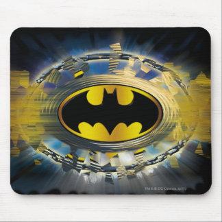 Batman adornó el logotipo tapetes de raton