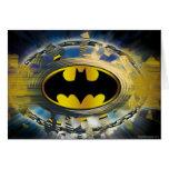 Batman adornó el logotipo tarjeta de felicitación