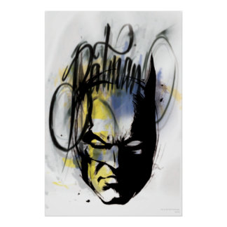 Batman Airbrush Portrait Poster