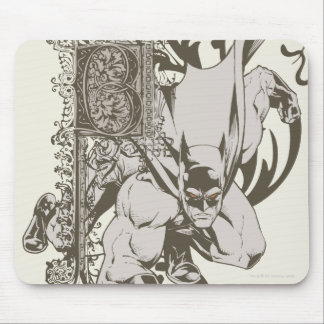 Batman and Decorated Letter B Mouse Pad