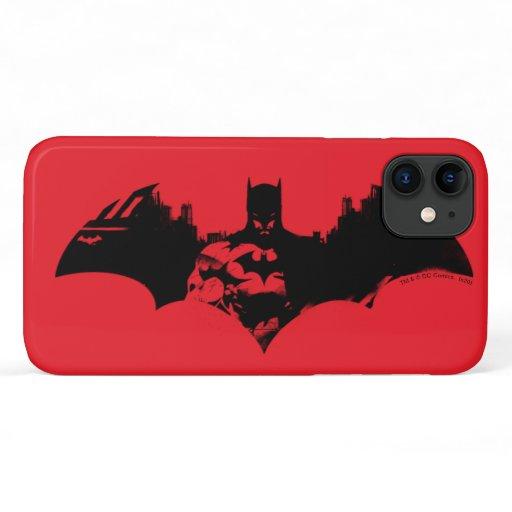 Batman and Gotham Silhouette Bat Logo iPhone 11 Case