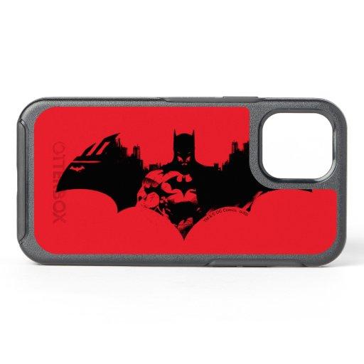 Batman and Gotham Silhouette Bat Logo OtterBox Symmetry iPhone 12 Case