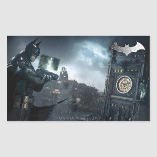 Batman And Oracle Rectangular Sticker