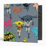 Batman And Robin Action Pattern Binders