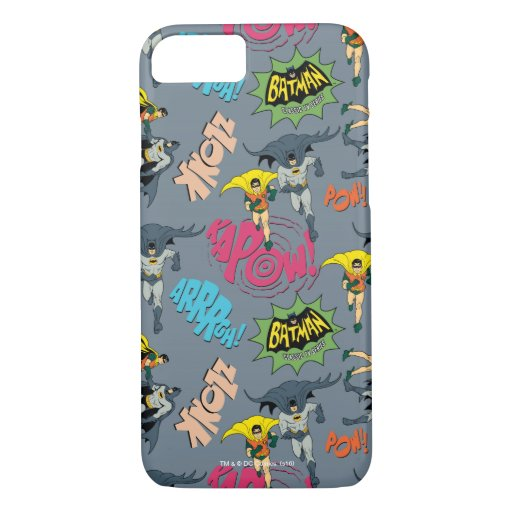 Batman And Robin Action Pattern iPhone 8/7 Case