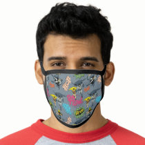 Batman And Robin Action Pattern Face Mask