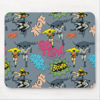 Batman And Robin Action Pattern Mouse Pad