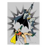 Batman And Robin Climb Post Card
