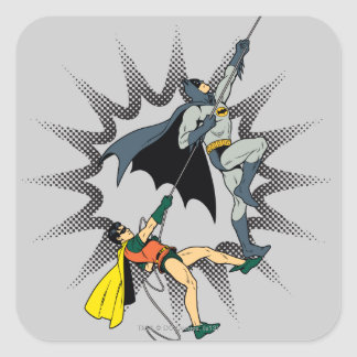 Batman And Robin Climb Square Sticker