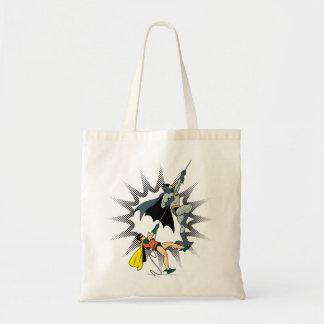 Batman And Robin Climb Tote Bag