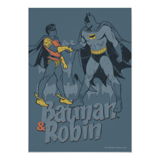 Batman And Robin Distressed Graphic Card