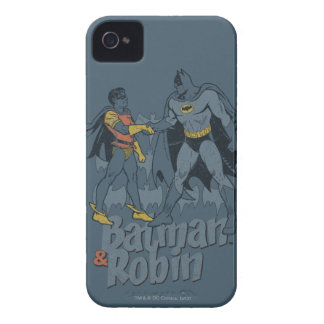 Batman And Robin Distressed Graphic iPhone 4 Cover